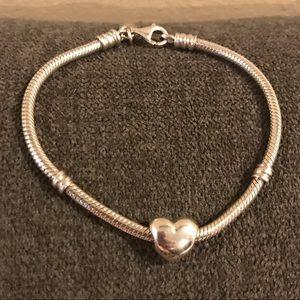 Pandora Bracelet & Heart Charm
